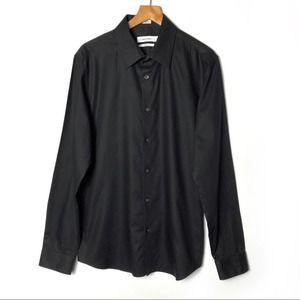 CALVIN KLEIN Slim Long Sleeve Button Down Shirt